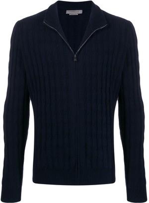 Corneliani cashmere knitted zipped jumper