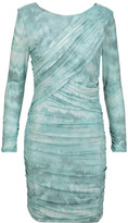 Roberto Cavalli Ruched printed stretch-jersey dress