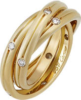 Cartier Constellation 18k Triple-Band Ring w/ Diamonds, Size 5.5