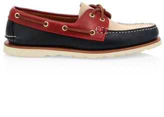 Sperry Handcrafted In Maine 2-Eye Colorblock Leather Boat Shoes
