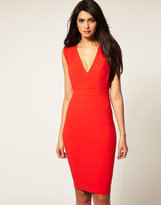 ASOS Pencil Dress with Plunge Neckline
