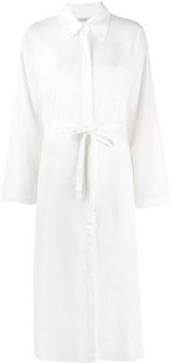 Le 17 Septembre Tie-Waist Shirt Midi Dress