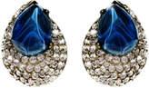 Ben-Amun Maharaji Crystal Button Earrings