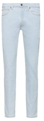 HUGO Extra-slim fit jeans in light-blue stretch denim
