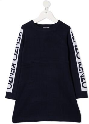 Kenzo Kids Intarsia Logo Wool Knit Jumper