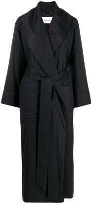 Salvatore Ferragamo Oversized Pinstripe Coat