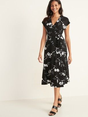 Old Navy Wrap-Front Dolman-Sleeve Midi Dress for Women