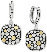 Effy Two-Tone Dotted Drop Earrings in Sterling Silver and 18k Gold