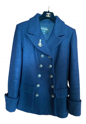 Chanel Blue Wool Coats