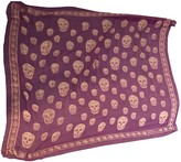 Alexander McQueen Purple Viscose Scarves