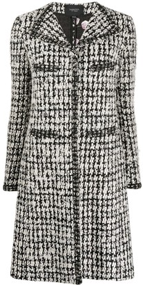 Giambattista Valli Long-Sleeved Tweed Coat