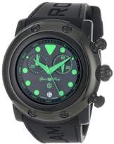 Glam Rock Women's GR61116 Miami Beach Chronograph Black Dial Black Silicone Watch
