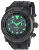 Glam Rock Women's GR61116 Miami Beach Chronograph Black Dial Black Silicone Watch