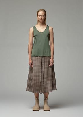 VIDEN Women's Kallen Tank Top in Dusty Olive Size XS Silk/Viscose