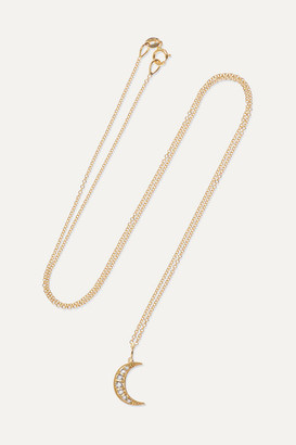 Andrea Fohrman Crescent Moon 18-karat Gold Diamond Necklace - one size
