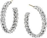 David Yurman Belmont ID Hoop Earrings in Sterling Silver