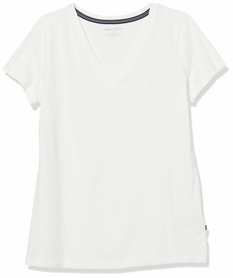 Nautica Women's Easy Comfort V-Neck Supersoft Stretch Cotton T-Shirt
