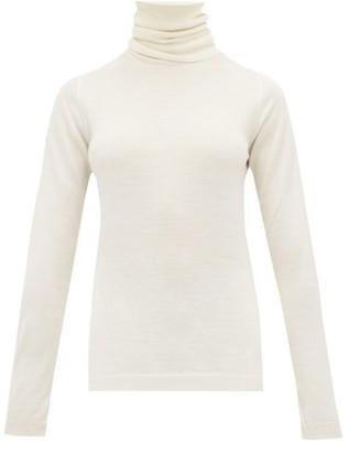 Sara Lanzi Roll-neck Merino-wool Sweater - Womens - Ivory