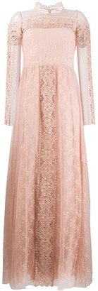 RED Valentino Tulle Lace Maxi Dress