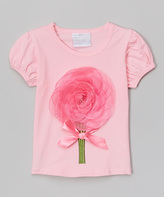 Tutus by Tutu AND Lulu Pink & Hot Pink Big Flower Tee - Infant & Girls