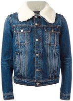 Ami Alexandre Mattiussi - shearling collar jacket - men - Cotton - L