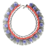 Modern Queen - Pom Pearls Necklace - Lavender/Coral