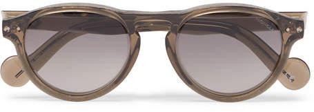 Moncler Round-Frame Acetate Sunglasses