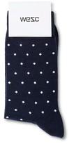 Wesc Men's 1 Pk Dott Socks Blue Iris