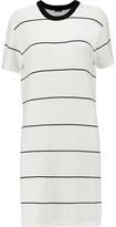 Monrow Striped Jersey Mini Dress