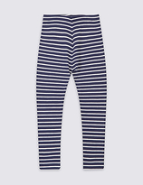Marks and Spencer Striped Cotton Leggings with Stretch (3 Months - 5 Years)