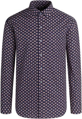 Bugatchi Men's Floral-Print Cotton Sport Shirt