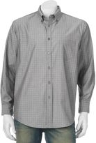 Haggar Men's Easy-Care Patterned Button-Down Shirt