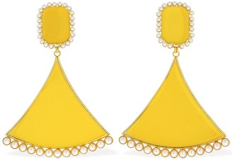 ROWEN ROSE Full Triangle Clip-on Pendent Earrings