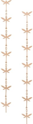 Anapsara 18kt rose gold Dragonfly drop earring