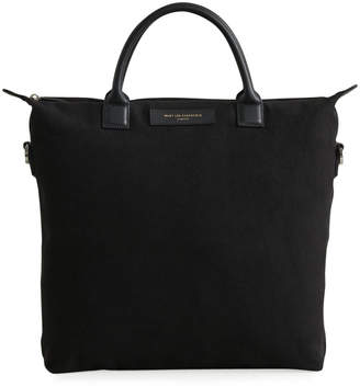 WANT Les Essentiels Men's O'Hare Organic Cotton Tote Bag w/ Leather Trim
