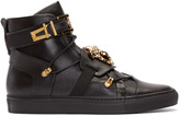 Versace Black Straps High-Top Sneakers