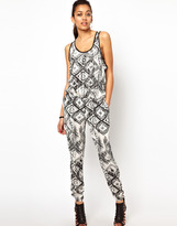 River Island Tribal Print Jumpsuit