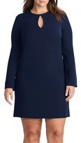 Lauren Ralph Lauren Plus Size Women's Keyhole Shift Dress