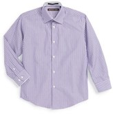 Michael Kors Boy's 'Grape' Stripe Dress Shirt