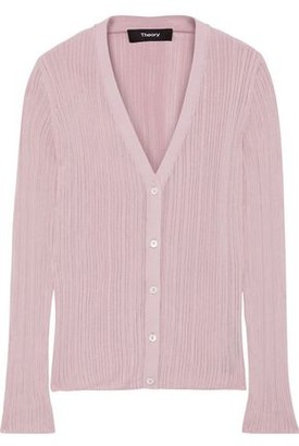 Theory Pointelle-knit Cardigan