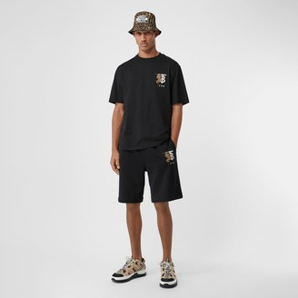Burberry Logo Graphic Cotton Drawcord Shorts
