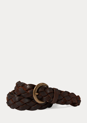 Ralph Lauren Hand-Braided Leather Belt