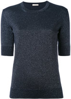 Nina Ricci metallic knit top - women - Polyester/Cupro/Wool/Metallized Polyester - S