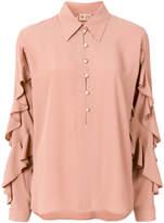 No.21 ruffle sleeve blouse