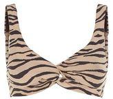 Prism Striped Knot Front Bikini Top