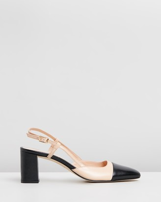 Jonak Dhapop Leather Slingback Heels