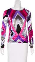 Emilio Pucci Velvet Long Sleeve Top