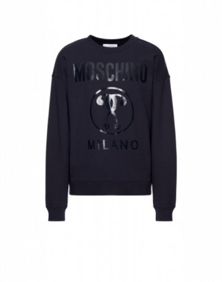 Moschino Cotton Sweatshirt With Double Question Mark Print
