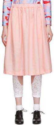 Comme des Garcons Pink Gabardine Skirt
