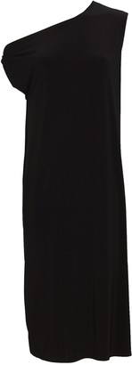 Norma Kamali Drop Shoulder Jersey Midi Dress
